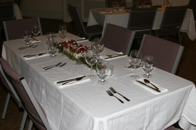 Typical Dinner Tablesetting